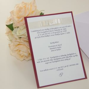 Handmade Satin Invitation Red