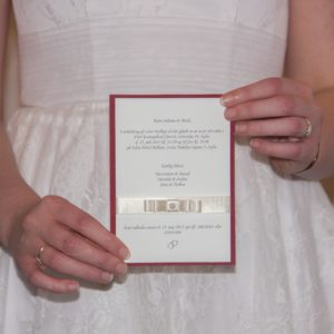 Handmade Satin Invitation